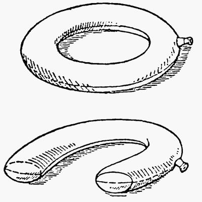 Кольцеобразная и подковообразная резиновые воздушные подушки