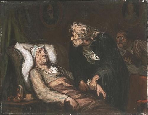 Картина Оноре Домье «Мнимый больной» (1860-1862)