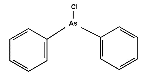 Структурная формула дифенилхлорарсина