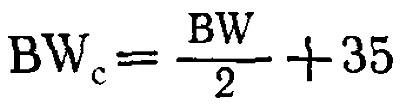Формула вычисления «исправленной» массы тела
