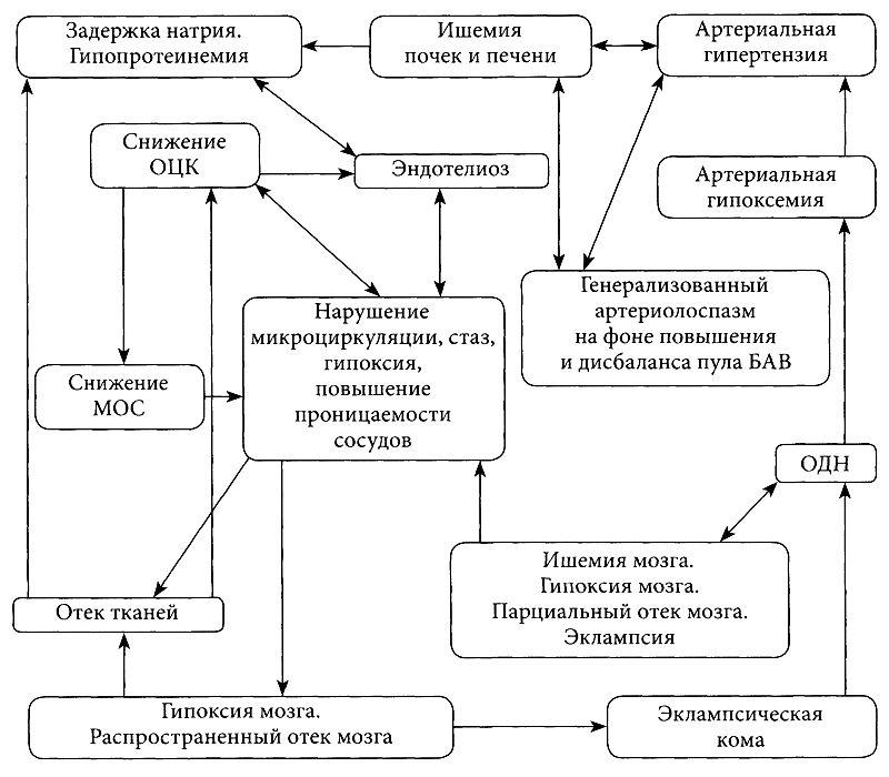 Первичные механизмы развития гестоза