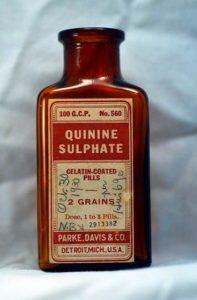 Таблетки хинина сульфата (фото)