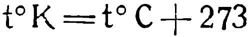 Формула перевода температуры из Цельсия в Кельвины