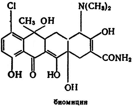 Формула биомицина