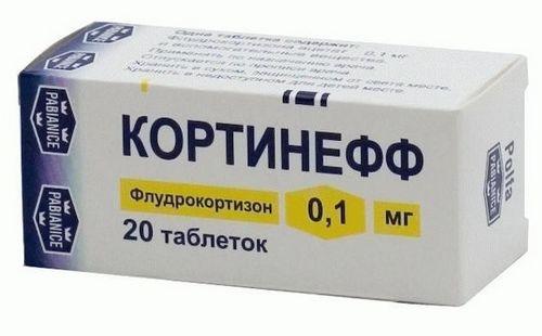 Кортинефф - флудрокортизон ацетат: препарат для лечения болезни Аддисона